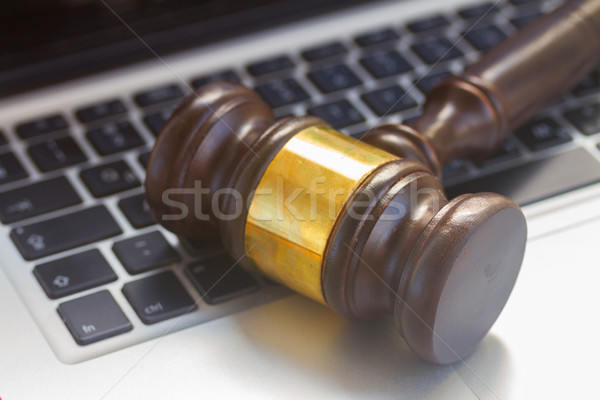 Wooden law gawel Stock photo © neirfy