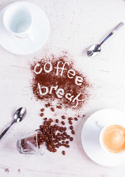 コーヒーブレイク 空っぽ カップ エスプレッソ コーヒー 抽象的な ストックフォト © neirfy