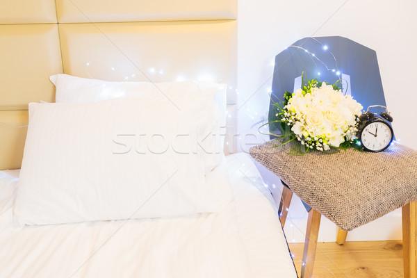 bedroom interior closeup Stock photo © neirfy
