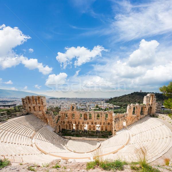 Anfiteatro ver paisagem viajar urbano teatro Foto stock © neirfy