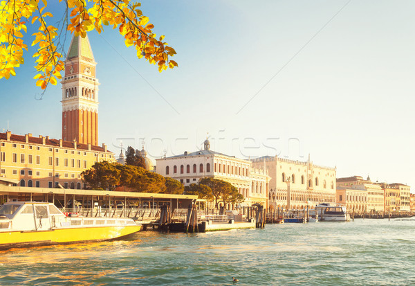 San Marco square waterfront, Venice Stock photo © neirfy