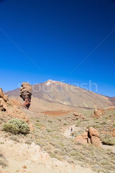 Vulkaan tenerife Spanje kanarie hemel Stockfoto © neirfy