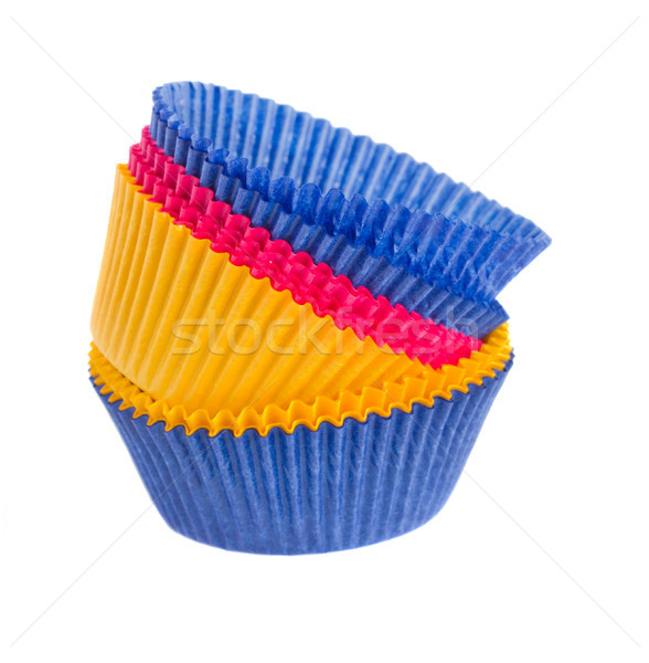 Stack of  cupcake cases Stock photo © neirfy
