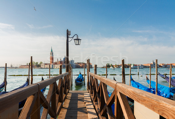 Pier in the Grand Canal, Venice Stock photo © neirfy