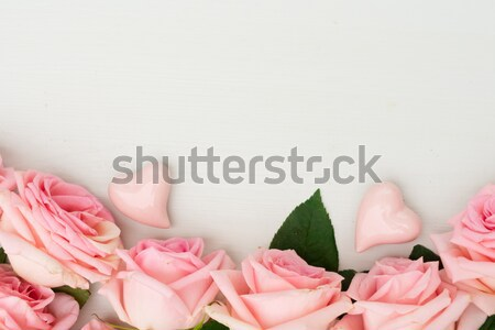 Nude still life Rose Red fille Photo stock © neirfy