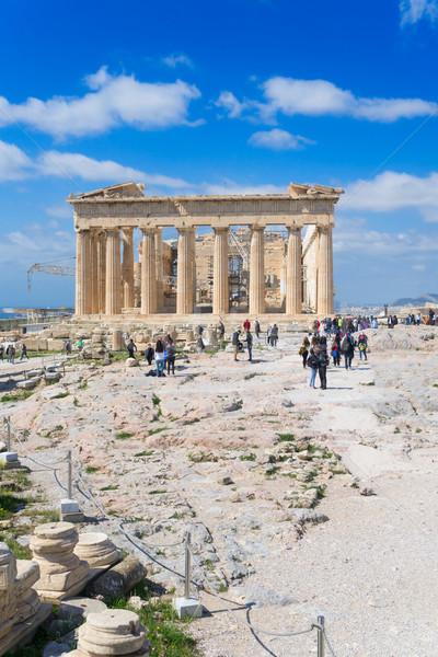 Templo fachada colina céu mundo viajar Foto stock © neirfy