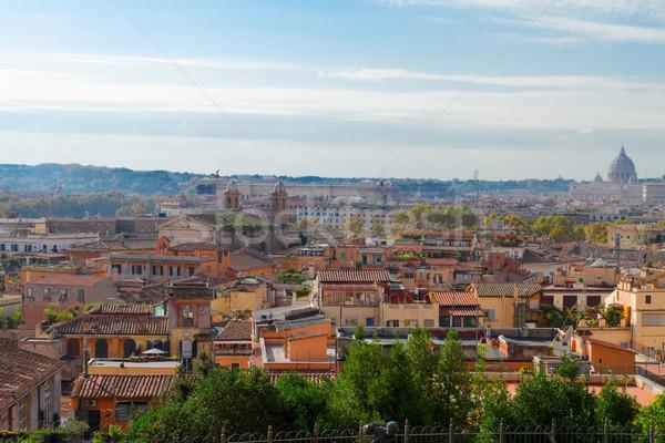 Panoramę Rzym Włochy miasta wiosną dzień Zdjęcia stock © neirfy