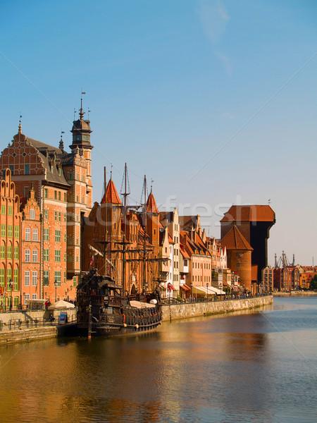 Città vecchia danzica Polonia banca fiume acqua Foto d'archivio © neirfy