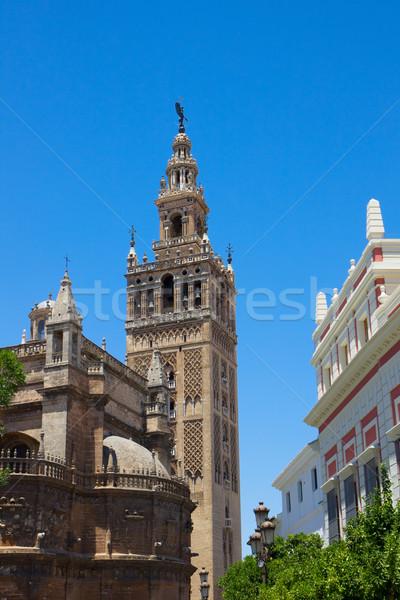 Bell tower La Giralda,  Seville, Spain Stock photo © neirfy