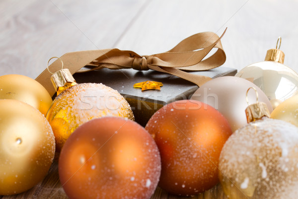 x-mas decorations and gift box Stock photo © neirfy