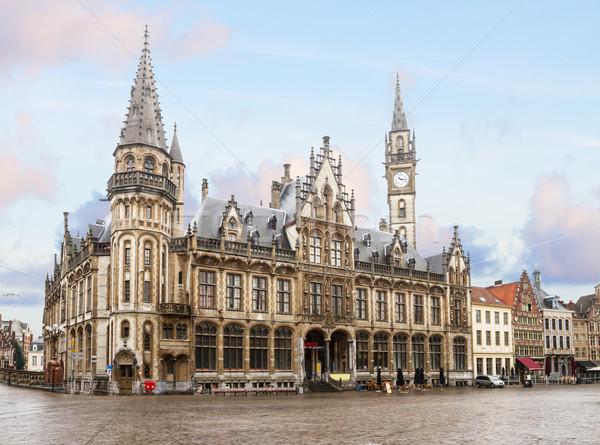 Сток-фото: старый · город · квадратный · пост · небе · здании · городского