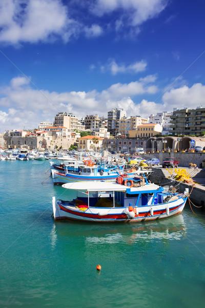 old port of Heraklion, Crete, Greece Stock photo © neirfy