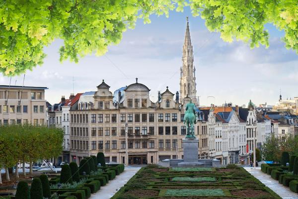 Bruxelas cityscape velho medieval cidade verão Foto stock © neirfy