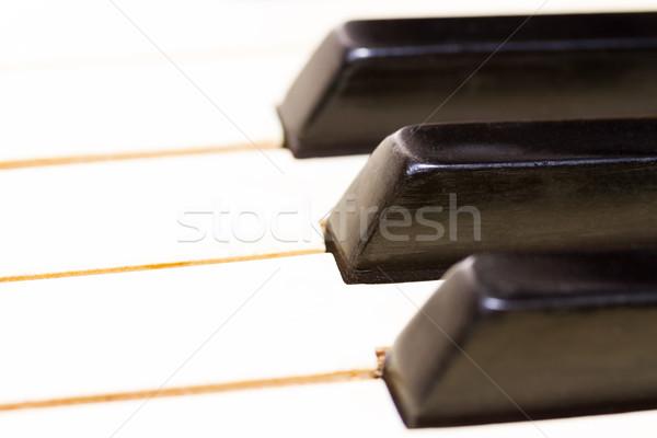 Piano toetsenbord oude vintage kunst Stockfoto © neirfy