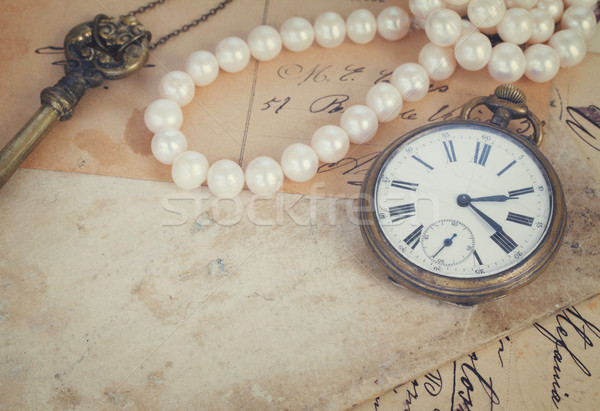 レトロな 時計 古い 論文 キー クロック ストックフォト © neirfy