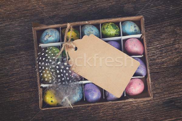 Colored quail eggs  Stock photo © neirfy