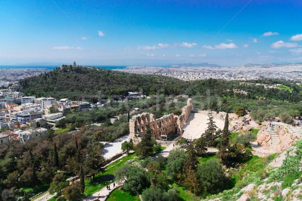 Anfiteatro cityscape paisagem viajar urbano linha do horizonte Foto stock © neirfy