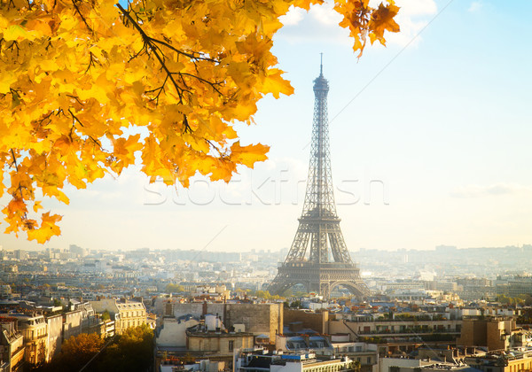 Tour Stadtbild sonnig Herbst Tag Stock foto © neirfy