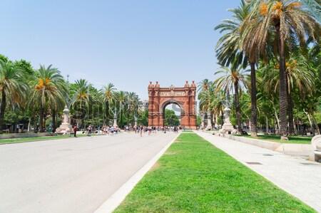 ív Barcelona Spanyolország épület város művészet Stock fotó © neirfy