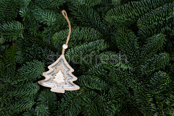 Christmas background with evergreen tree Stock photo © neirfy