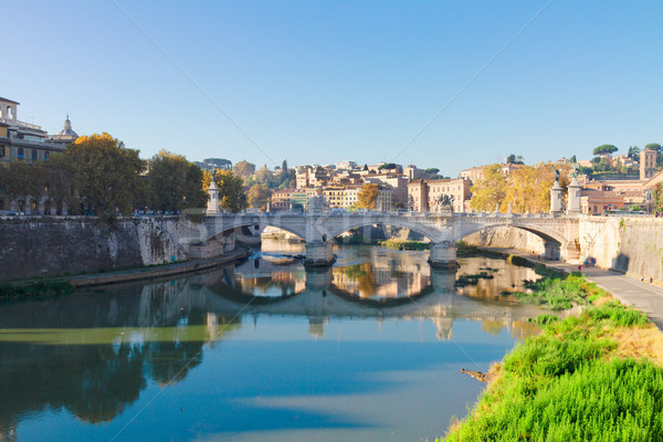 bridge and Tiber river in Rome, Italy Stock photo © neirfy
