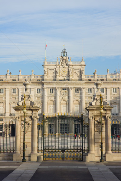gate to royal palace, Madrid, Spain Stock photo © neirfy
