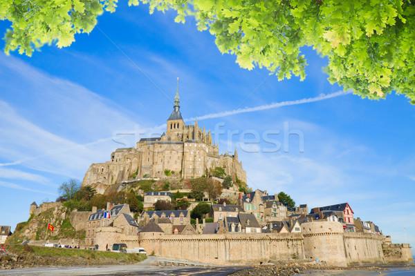 аббатство святой Солнечный лет день Нормандия Сток-фото © neirfy