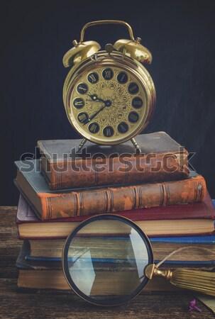 antique golden clock Stock photo © neirfy