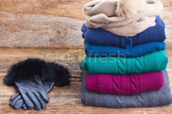 set of woolen clothes Stock photo © neirfy