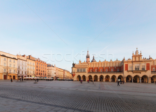 Market square in Krakow, Poland Stock photo © neirfy