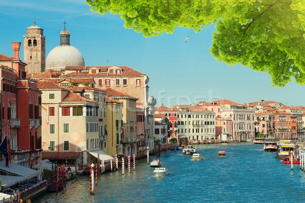 Canal Veneza Itália ensolarado verão dia Foto stock © neirfy