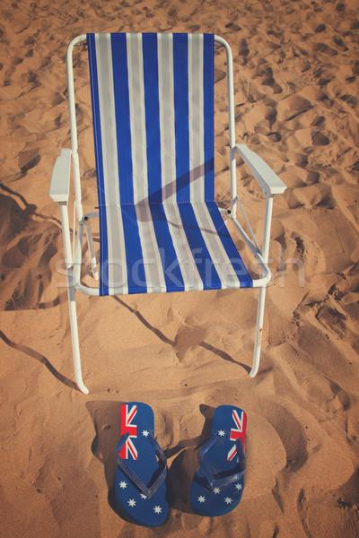 şezlong sandalet yaz deniz kıyı Stok fotoğraf © neirfy