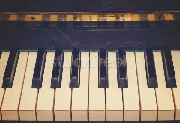 vintage piano keyboard Stock photo © neirfy