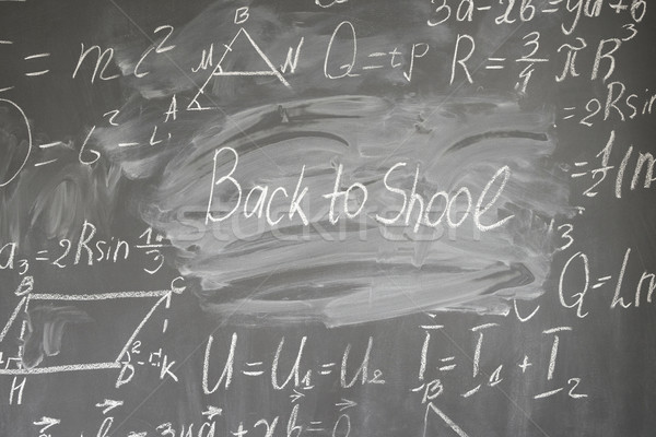 Math formule scritto bianco gesso Foto d'archivio © neirfy