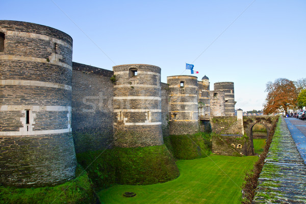 Castle of Angers, France Stock photo © neirfy