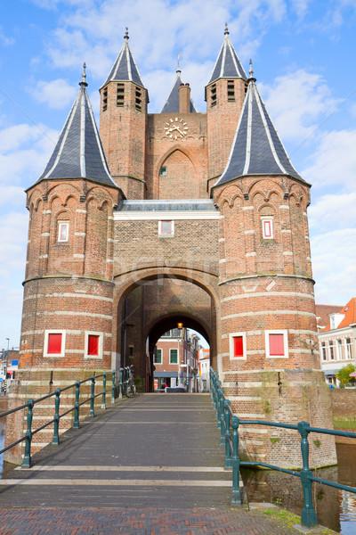 The Amsterdamse Poort, Haarlem, Holland Stock photo © neirfy