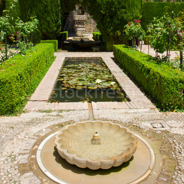 Generalife gardens, Granada, Stock photo © neirfy