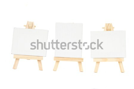 set of easels with blank canvas Stock photo © neirfy