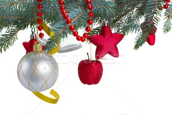 christmas decorations  hanging on fir tree Stock photo © neirfy