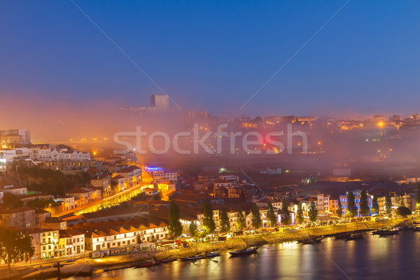 Willi Portugalia noc domu miasta wygaśnięcia Zdjęcia stock © neirfy