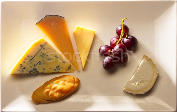 チーズ プレート チェダー ロクフォール 古い アムステルダム ストックフォト © neirfy