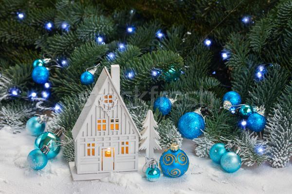 White christmas house Stock photo © neirfy