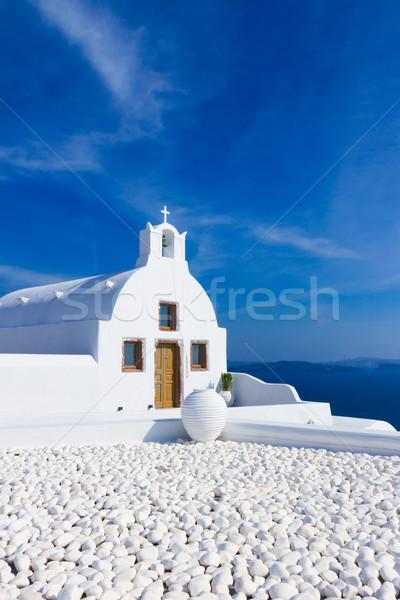 Gyönyörű részletek Santorini sziget Görögország tipikus Stock fotó © neirfy