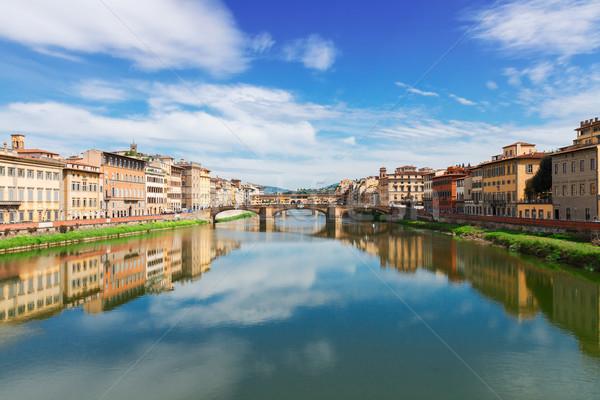 Florence Itália famoso pontes rio verão Foto stock © neirfy