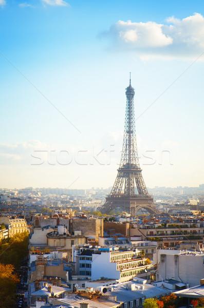 Eiffel tour Parijs stadsgezicht najaar dag Stockfoto © neirfy