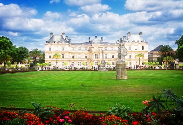 Luxembourg garden in Paris Stock photo © neirfy