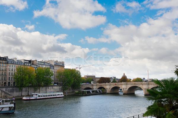 Parigi Francia fiume cielo blu nubi acqua Foto d'archivio © neirfy