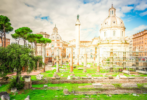 Forum romaine ruines Rome Italie colonne Photo stock © neirfy