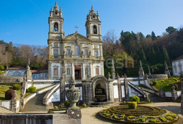 Foto stock: Basílica · santuário · bom · jesus · montanha · atravessar