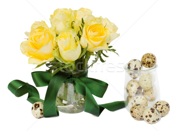easter roses posy Stock photo © neirfy